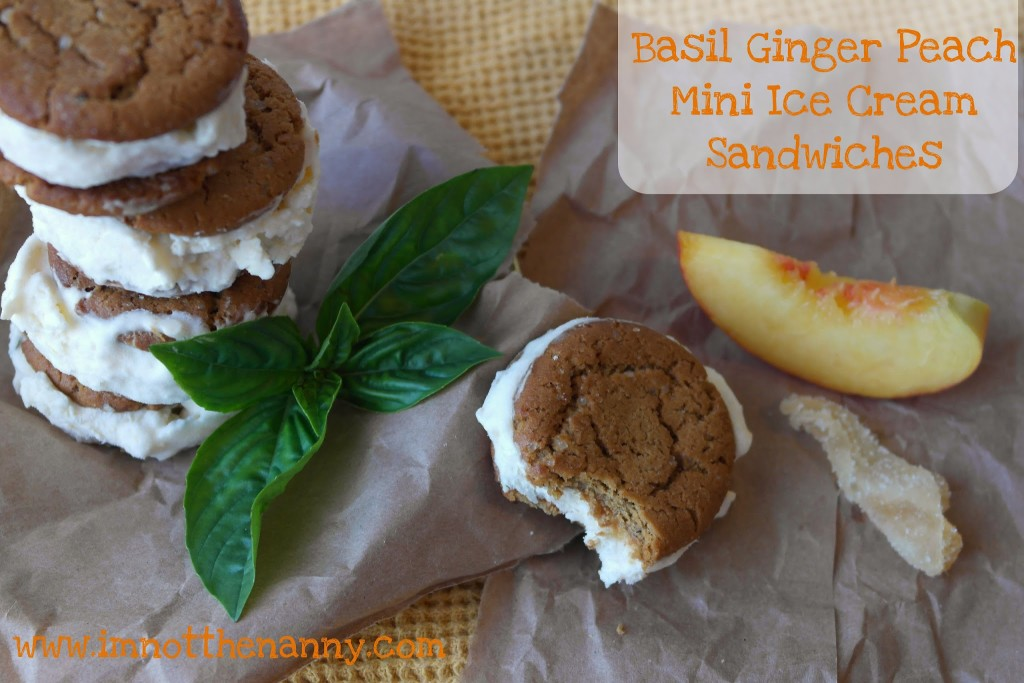 Ginger Peach Ice Cream Sandwiches via I'm Not the Nanny
