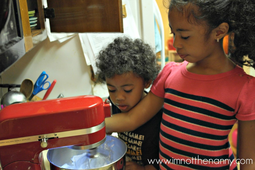 Kids Making Frosting