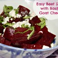 Beet Salad with Goat Cheese Basil