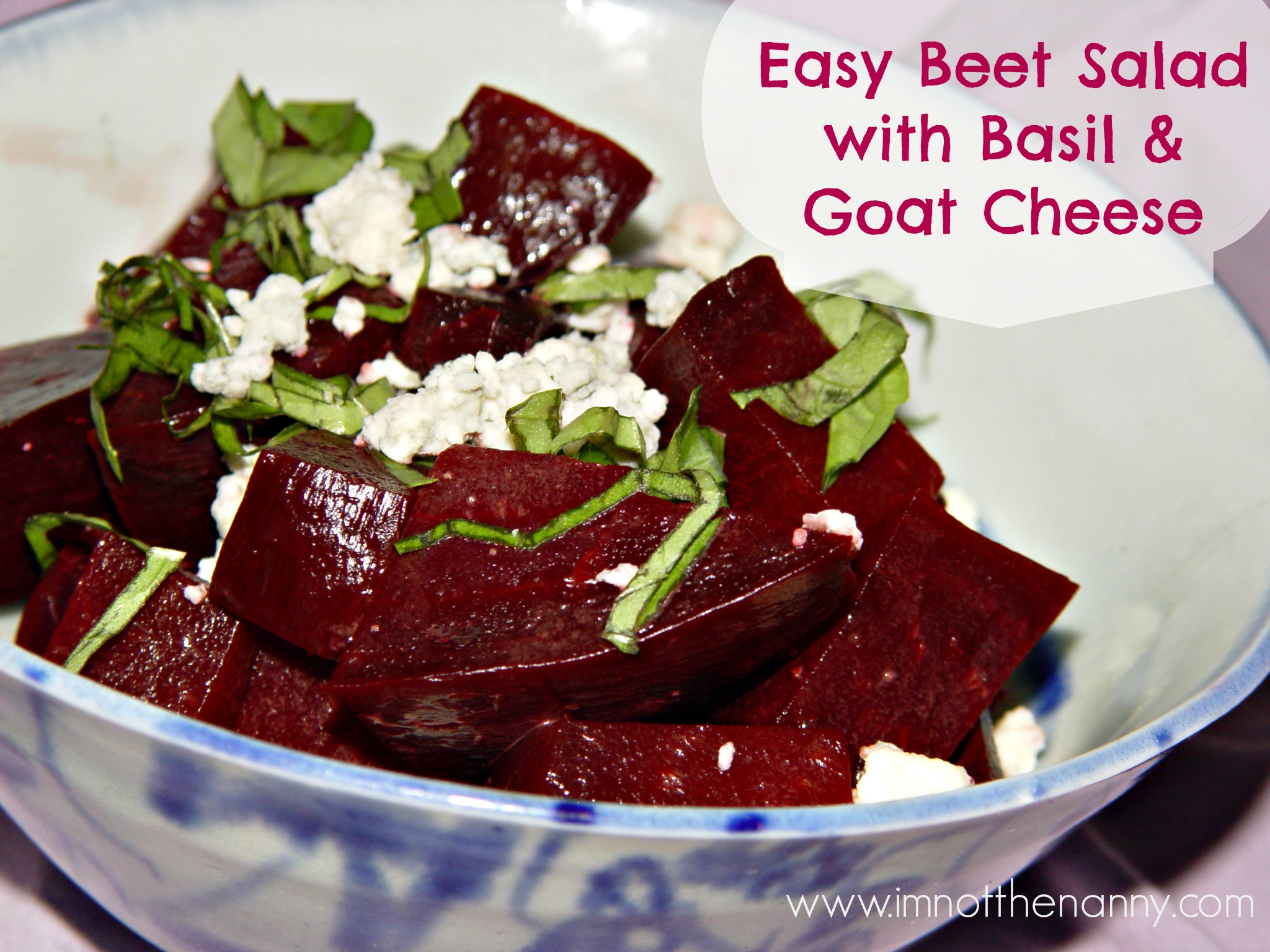 Easy Beet Salad With Basil Amp Goat Cheese