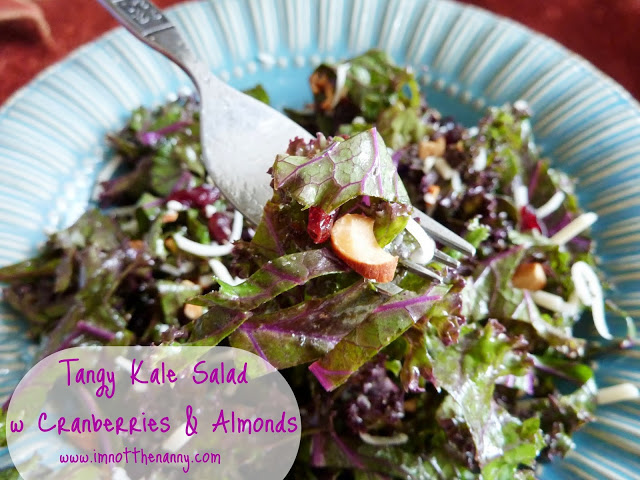 Kale salad with cranberies and almonds