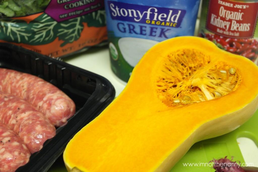 sausage kale butternut squash soup ingredients