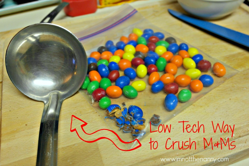 Low Tech Way to Crush M&Ms #shop #BakingIdeas #cbias
