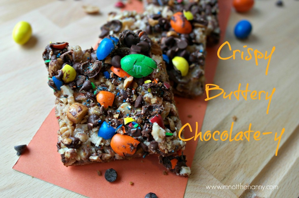 Salted M&Ms Toffee Bars #shop #BakingIdeas #cbias