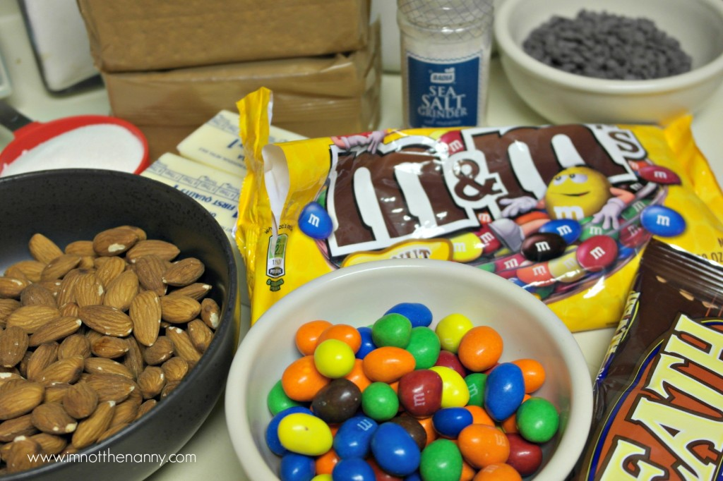 Salted M&Ms Toffee Bars Ingredients #shop #BakingIdeas #cbias