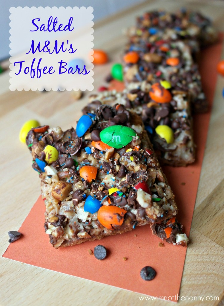 Salted M&M's Toffee Bars #shop #BakingIdeas #cbias