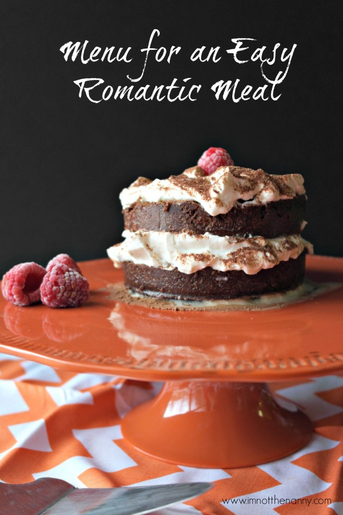 Menu for Easy Romantic Meal-I'm Not the Nanny #Valentines4All #shop #cbias