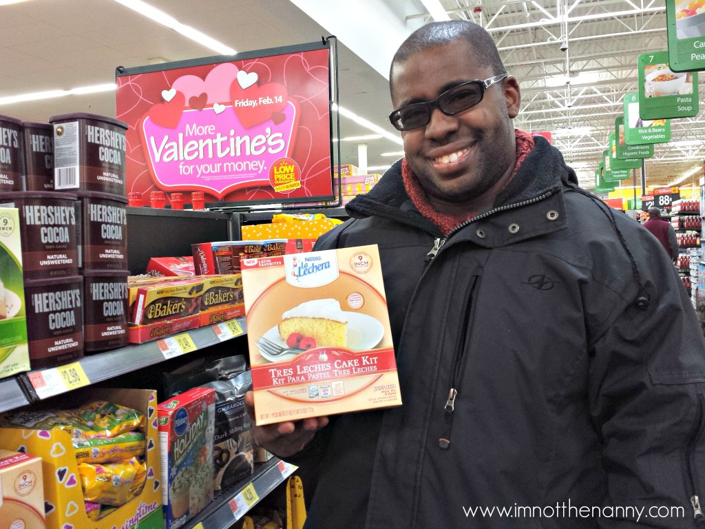 Husband with Tres Leche Cake Kit-I'm Not the Nanny #Valentines4All #shop #cbias