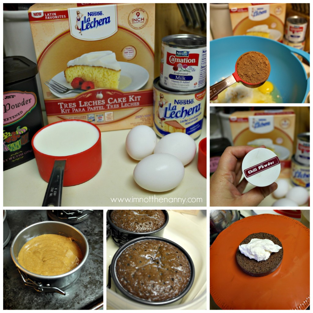 Spicy Tres Leche Cake Process-I'm Not the Nanny #Valentines4All #shop #cbias