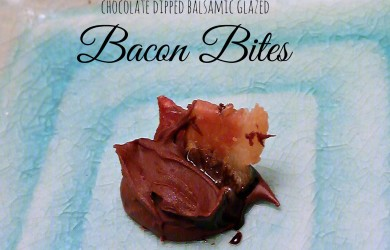Chocolate Dipped Bacon Bites with balsamic glaze-I'm Not the Nanny