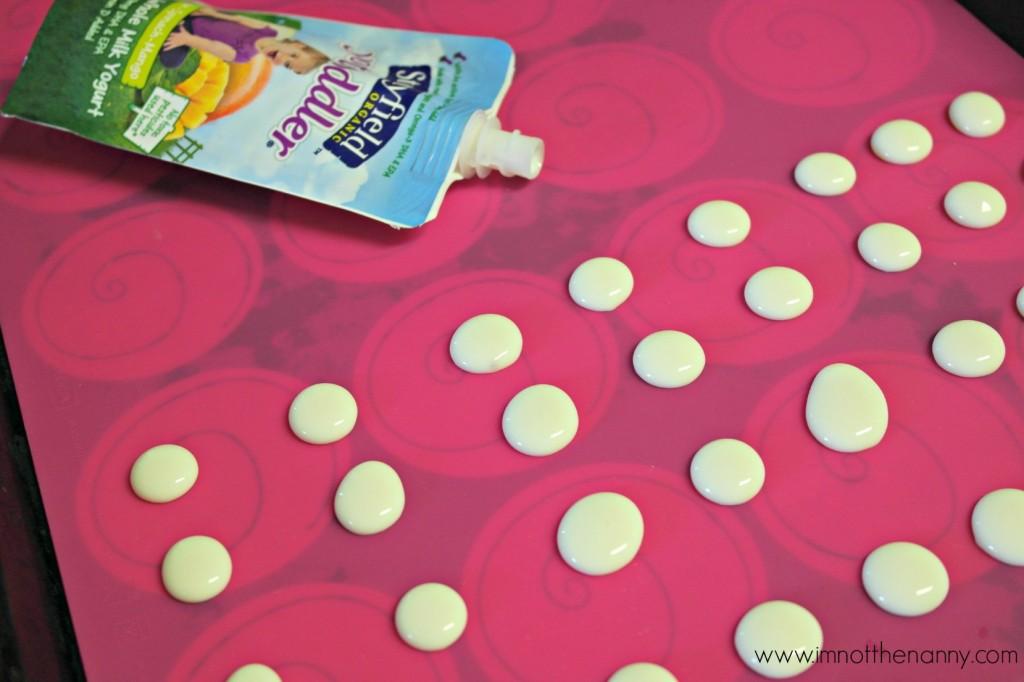 Stonyfield YoToddler Yogurt Poches Frozen Dots-I'm Not the Nanny