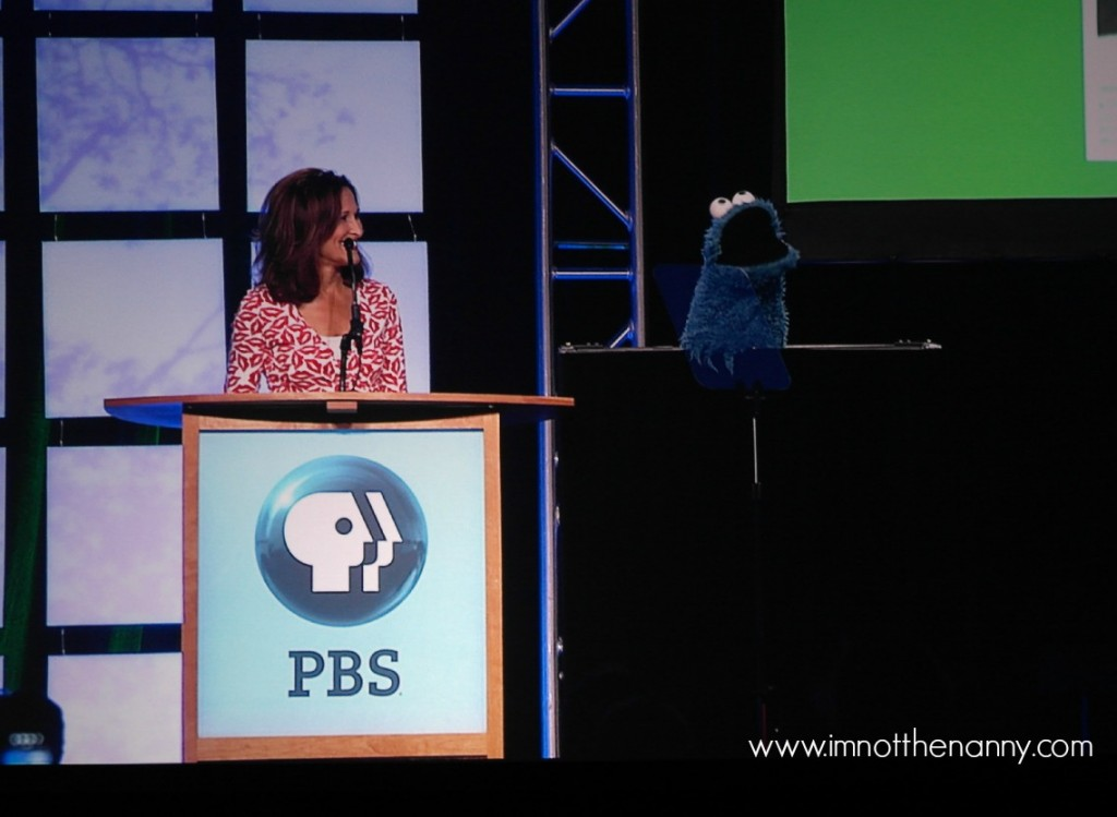 Cookie Monster at PBS Annual Meeting-I'm Not the  Nanny