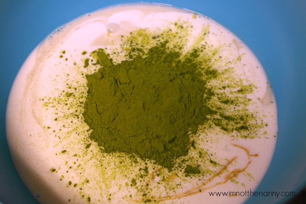 Green tea mixture-I'm Not the Nanny #SilkAlmondBlends #shop