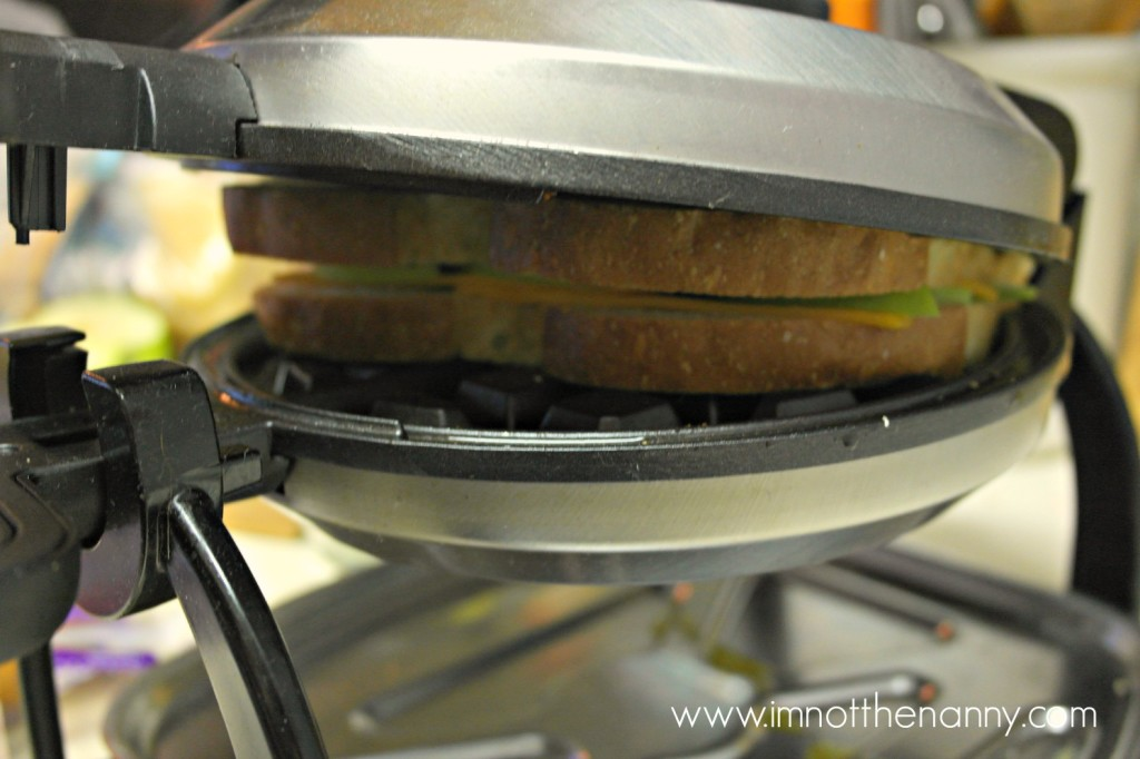 Grilled Cheese in Waffle Maker--I'm Not the Nanny #TEArifficPairs #shop