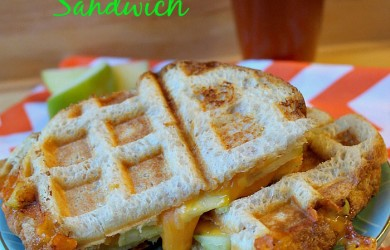 Waffle Maker Apple Cheddar Grilled Cheese Sandwich-I'm Not the Nanny #TEArifficPairs #shop