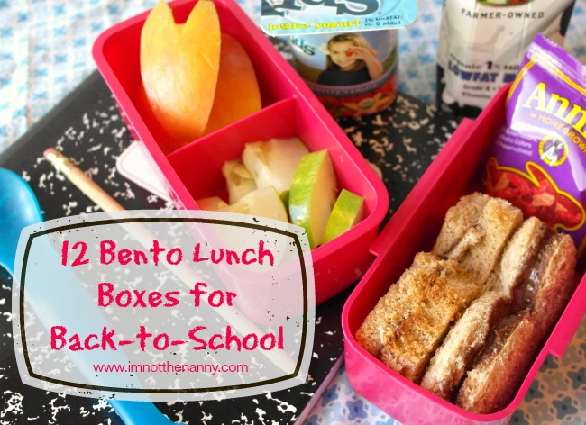 12 bento lunch boxes for back to school i 39 m not the nanny. Black Bedroom Furniture Sets. Home Design Ideas