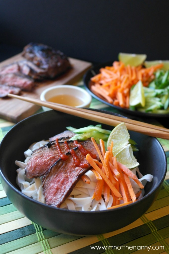 Easy Vietnamese bun thit nuong (rice noodles)-I'm Not the Nanny