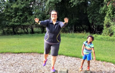 Balancing at the Park-I'm Not the Nanny