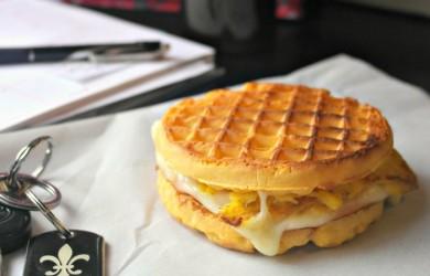 Make ahead waffle breakfast sandwich