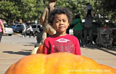 Jaxson with a Giant Pumpkin