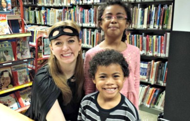 Kids Meeting Shannon Hale-I'm Not the Nanny