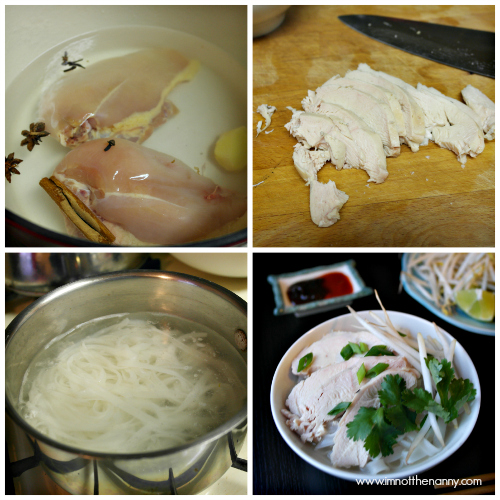 Easy Chicken Pho Collage-I'm Not the Nanny
