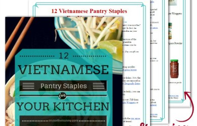 Vietnamese Pantry Staples E-Guide Plus Free Visual Shopping List via I'm Not the Nanny