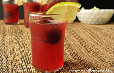 Balsamic Cherry Shirley Temple Virgin Cocktail via I'm Not the Nanny