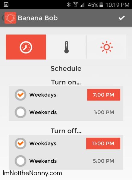 Automation Settings Screenshot via I'm Not the Nanny