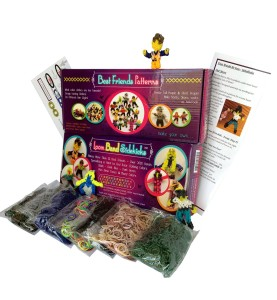 Loom Band Doll Patterns with Skin Tone Bands