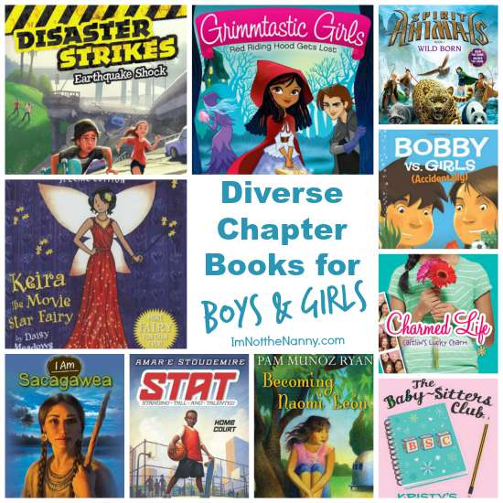 Diverse Chapter Books for Boys and Girls