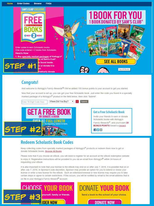How to redeem free book Kellogg's offer for Scholastic books #ad #back2schoolstockup