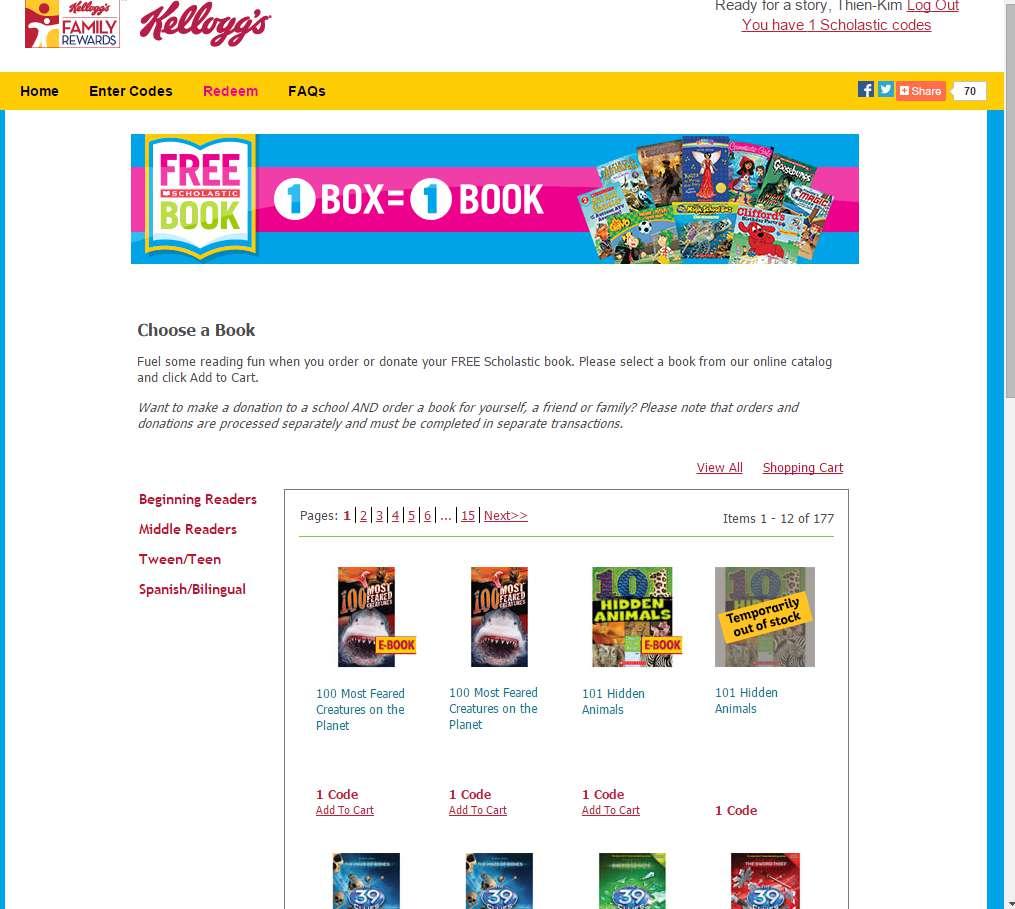 Kellogg's offer for Scholastic books #ad #back2schoolstockup