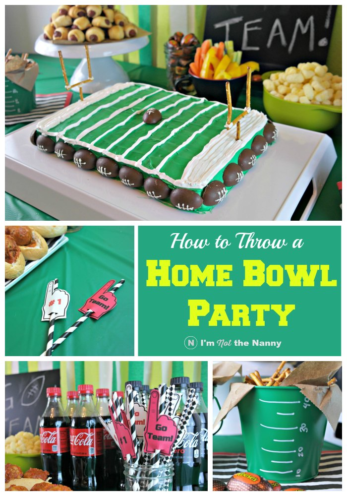 How to throw a Home Bowl Party + Football Field Cake Tutorial #HomeBowlParty #CollectiveBias (AD)