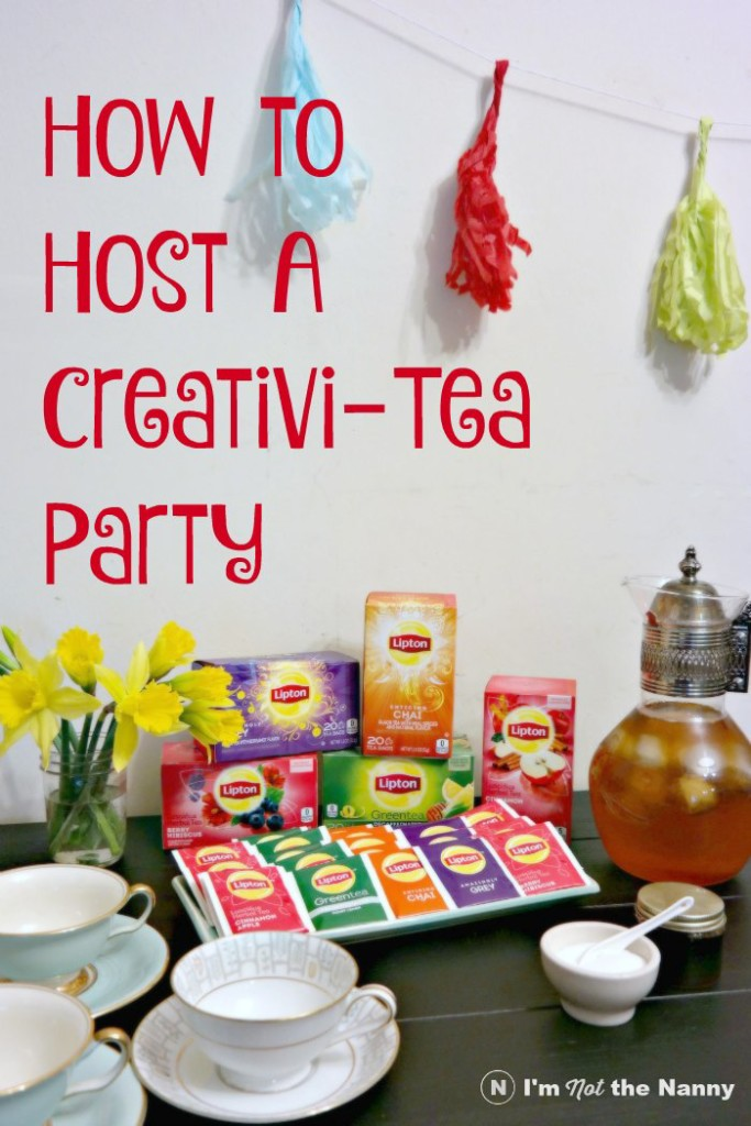 How To Host A Party how to host a creativi-tea party - i'm not the nanny