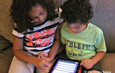 Kids Playing on Tablet