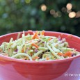 Easy sweet and tangy ginger sesame slaw recipe via I'm Not the Nanny