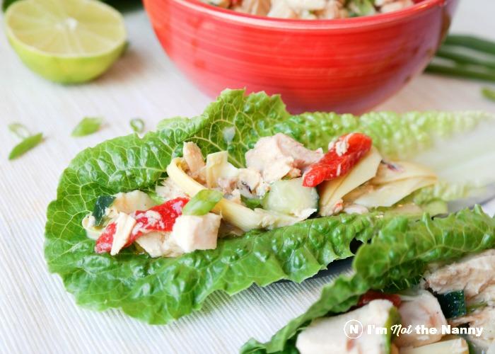 Dijon Vinaigrette Tuna Salad Lettuce Cups via I'm Not the Nanny