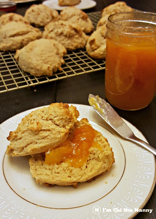 Drop Biscuits with Peach Jam