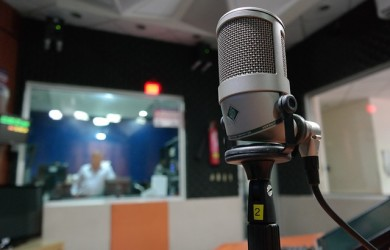MIcrophone in radio station