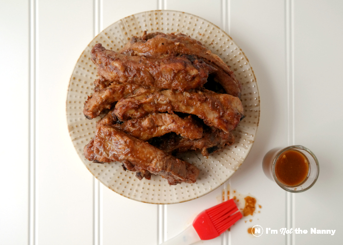 Anita Lo BBQ Spare Ribs with sauce. Recipe from Panna