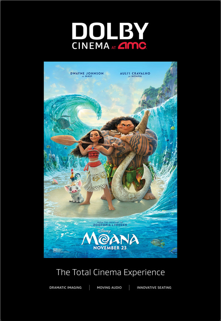 Moana in Dolby Cinema at AMC