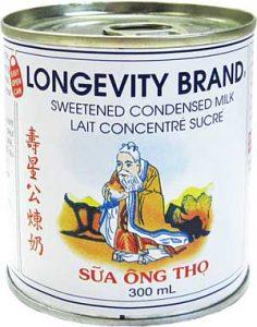 Longevity Brand Sweetened Condensed Milk