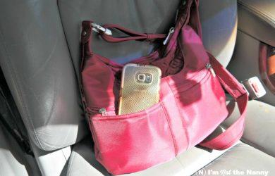 Smartphone inside purse