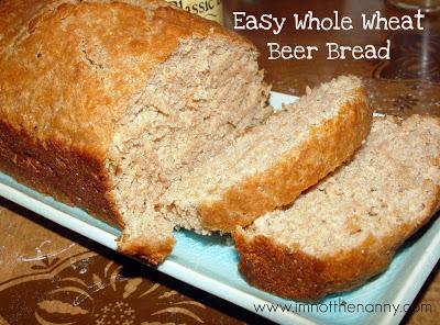 Whole Wheat Beer Bread Recipe via I'm Not the Nanny