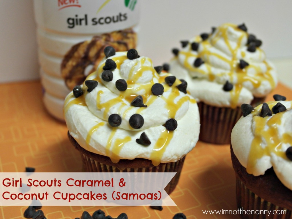 Girl Scouts Coffeemate Caramel & Coconut Cupcakes