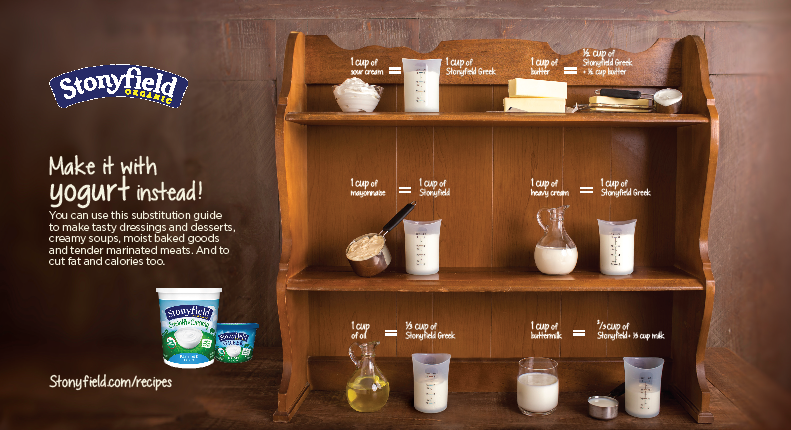 stonyfield yogurt substitutions