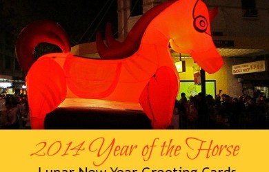 2014 Year of the Horse Lunar New Year Greeting Cards-I'm Not the Nanny