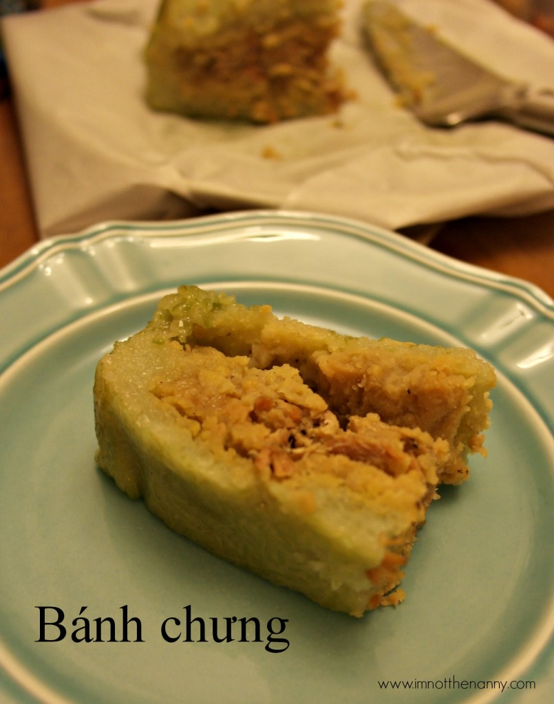 Slice of banh trung lunar new year-I'm Not the Nanny