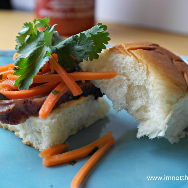 Bánh Mì Sliders with Sriracha Mayo